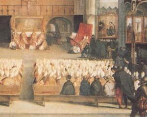 Le concile de Trente (école italienne, XVIè siècle, musée du Louvre, Paris)