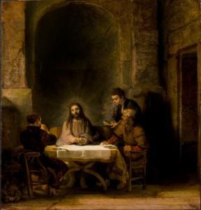 Les Pèlerins d'Emmaüs - Rembrandt 1648 - Le Louvre