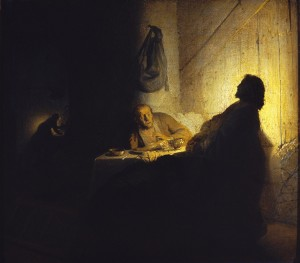 Rembrandt - Les pèlerins d'Emmaüs (1648)